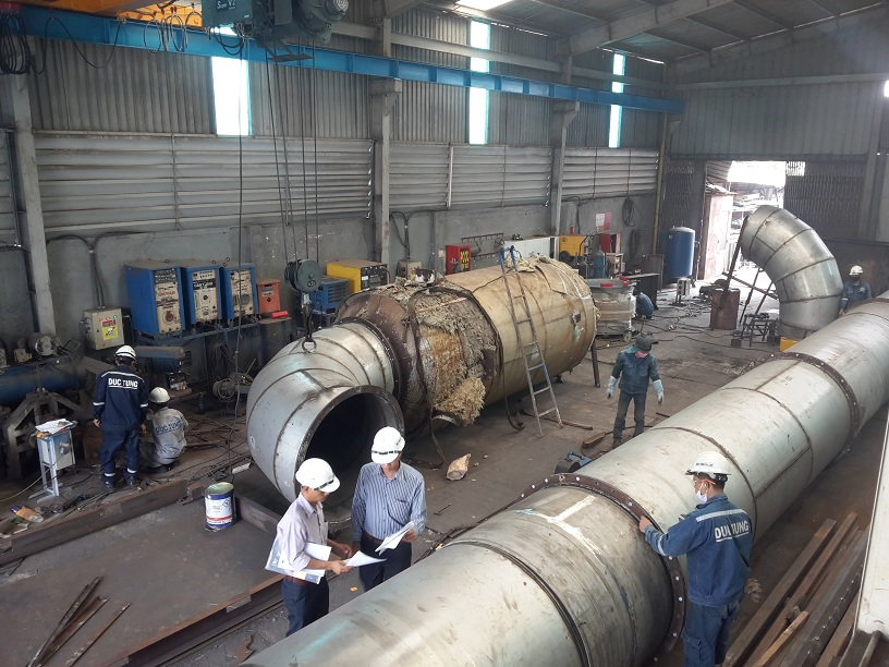 Fabrication and installation of ship equipment