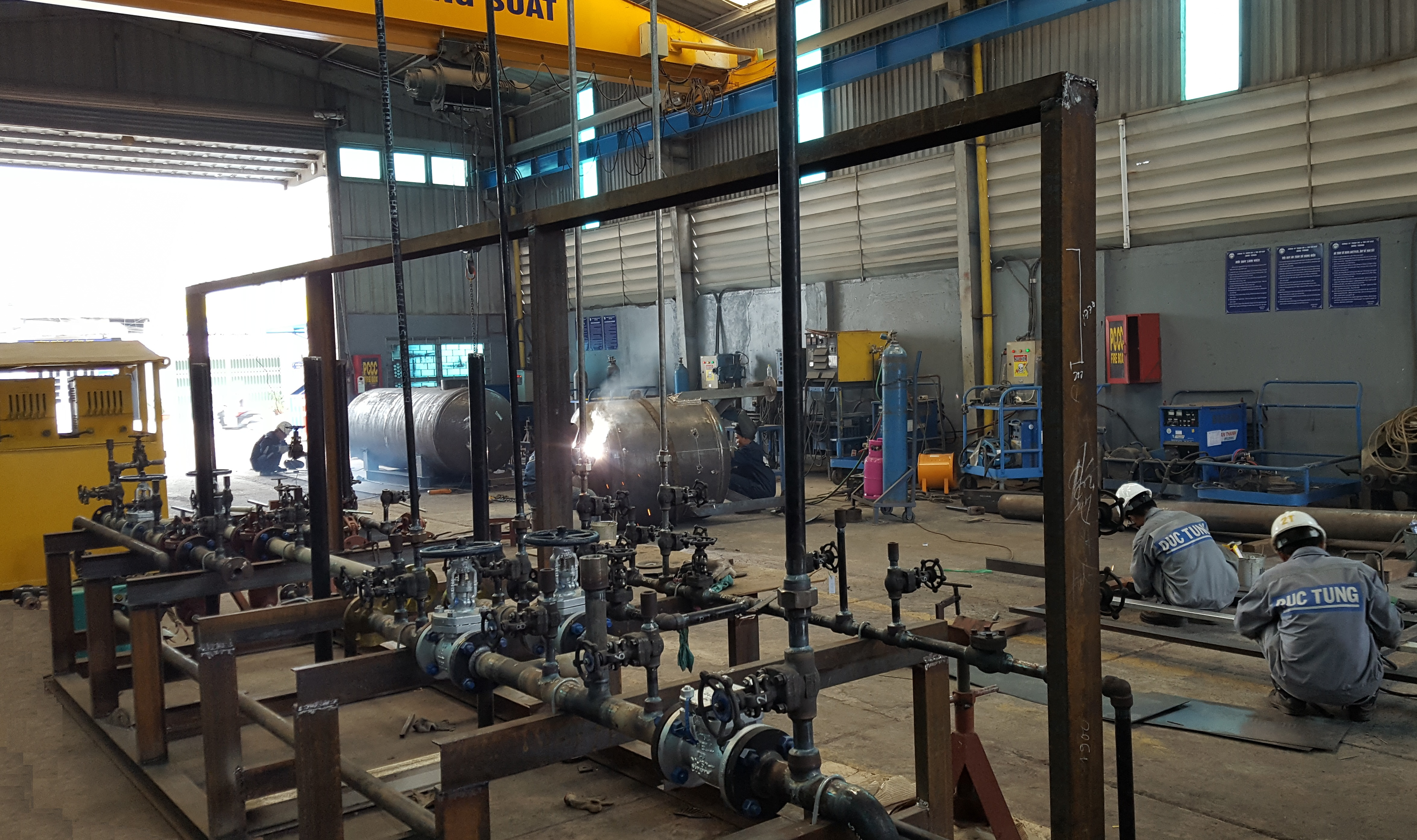 Fabrication and installation of pipes